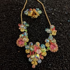 Vintage Juliana necklace and earrings set